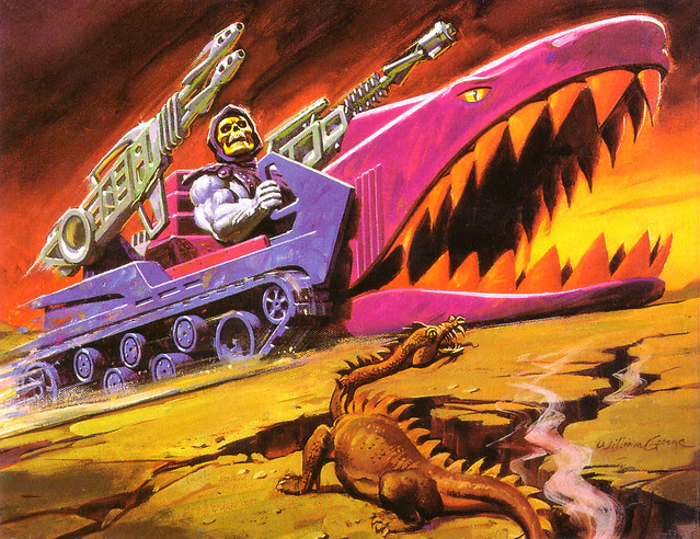 Masters Of The Universe - Land Shark (painting by William George)