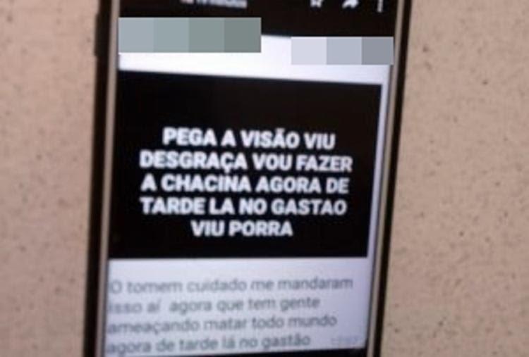 Em doimento, o aluno afirmou que tudo não passava de uma brincadeira - Foto: Reprodução | Folha do Estado da Bahia