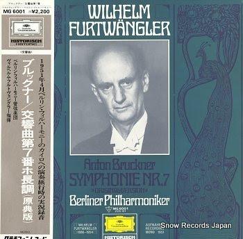 FURTWANGLER, WILHELM bruckner, anton; symphonie nr.7 original-version