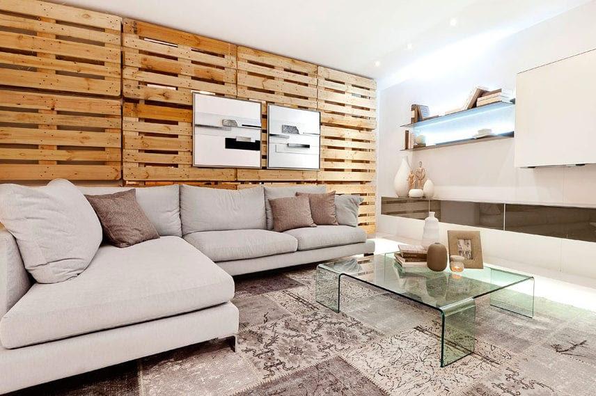 Wandgestaltung Ideen mit Paletten - fresHouse