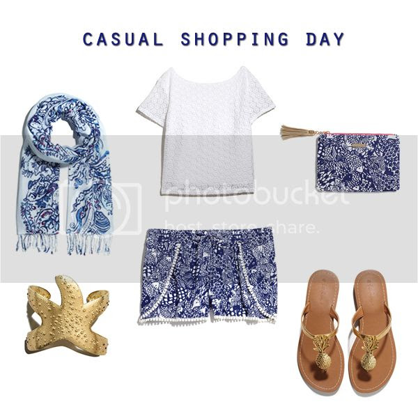 Lilly for Target lookbook preview, Lilly Pulitzer for Target casual shopping day outfit idea