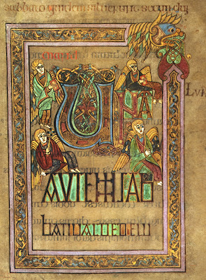 The Book of Kells illuminated manuscript page