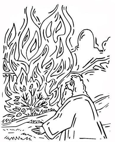 Disegno Di Mosè E Il Cespuglio In Fiamme Da Colorare Disegni Da