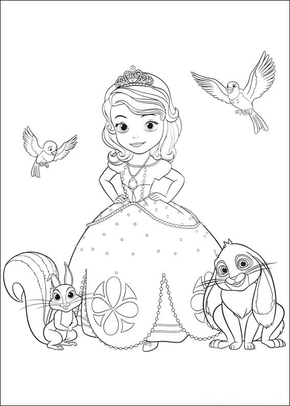 Princesa Sofia Dibujos Para Imprimir Y Colorear