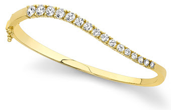 Curved Diamond Journey BangleCurved Diamond Journey Bangle Bracelet