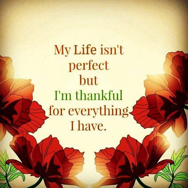 My Life Isnt Perfect But I Am Thankful For Everything I Have