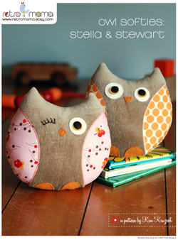 Retro Mama | Owl Softies sewing pattern