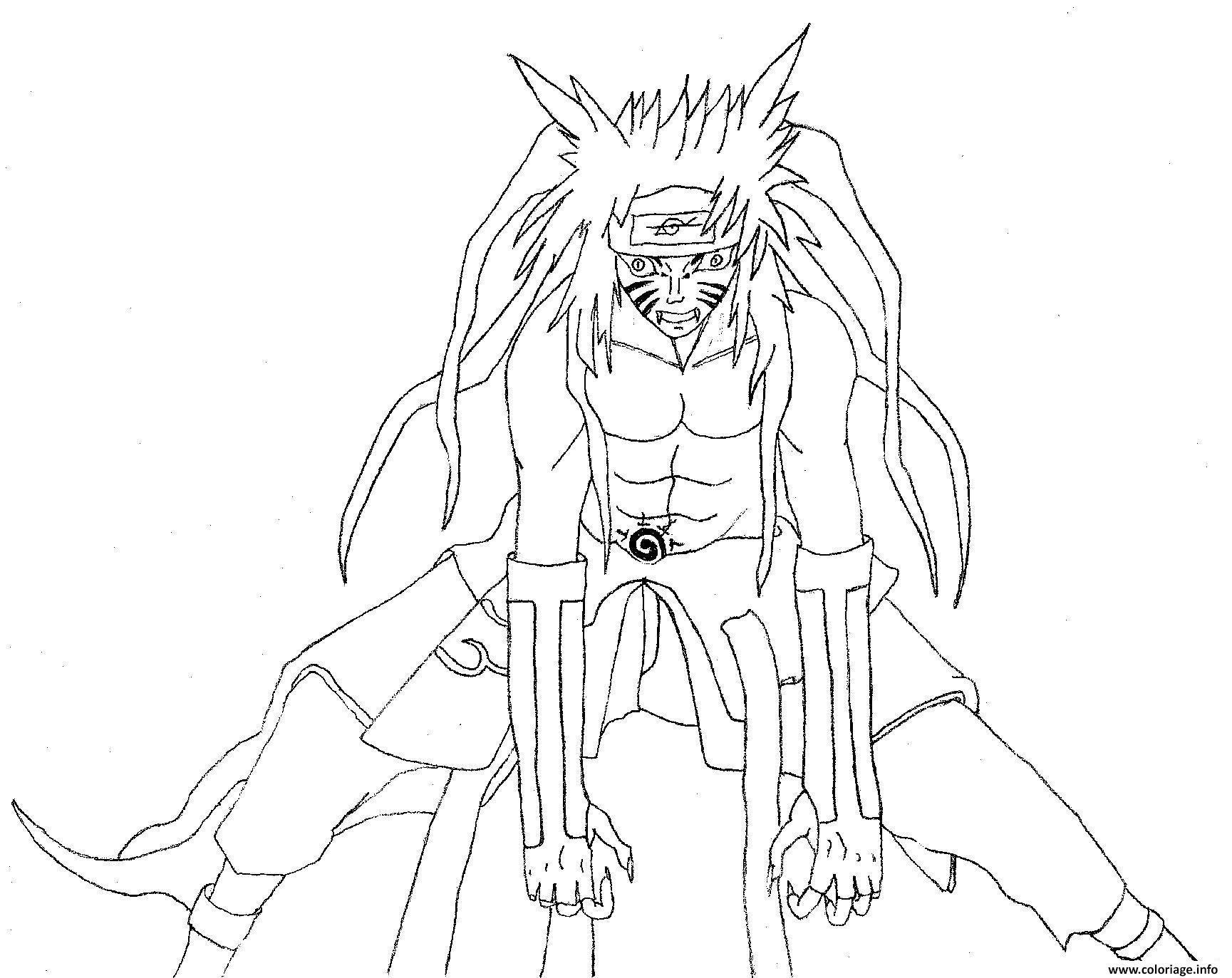 Coloriage manga naruto 28