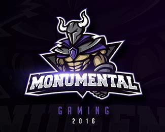 monumental mascot football logo design game logo