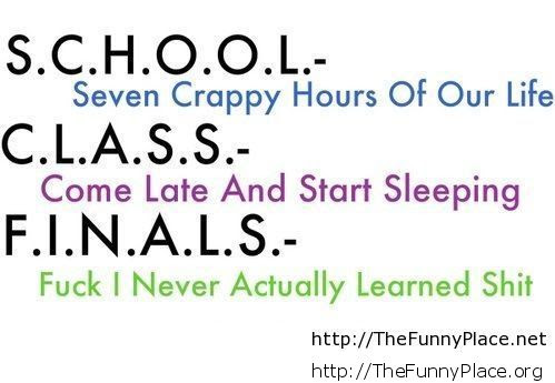 Funny School Quotes And Sayings Thefunnyplace