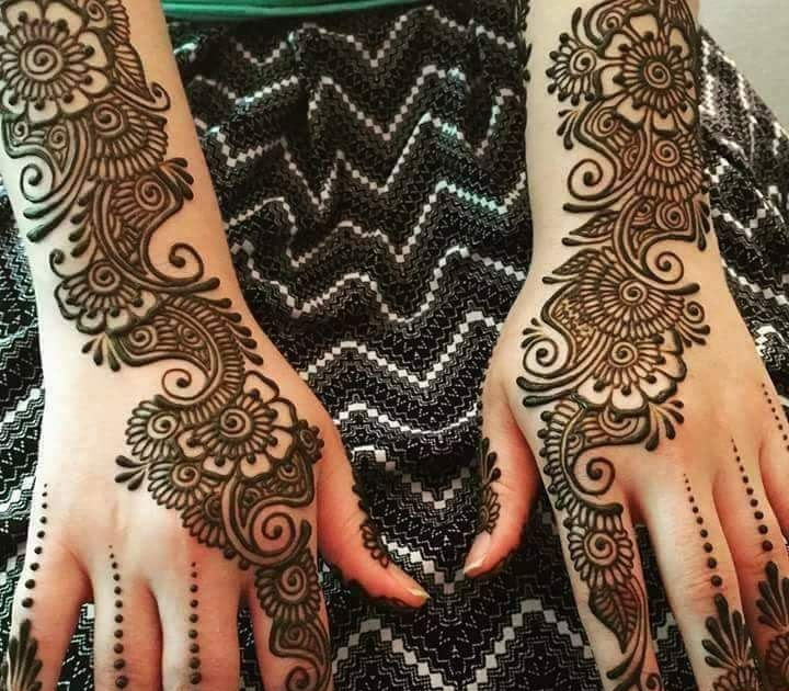 arabic mehndi design back side hand