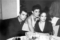Chris Paciello with business partner Ingrid Casares and Jennifer Lopez.