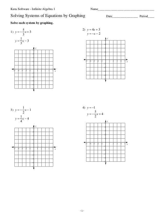 Solving Systems Of Linear Equations Graphing Worksheet  graphing systems of linear equations