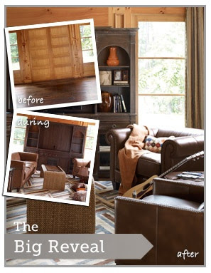 Big Reveal Before and After  using the HGTV HOME Furniture Collections available at Furniture Fair Cincinnati, OH and Northern KY. Design your home with style and flair at Furniture Fair.