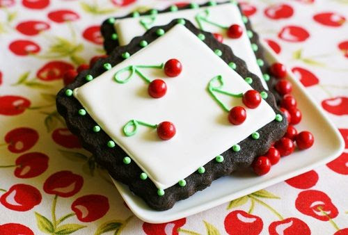 easy cherry decorated cookies
