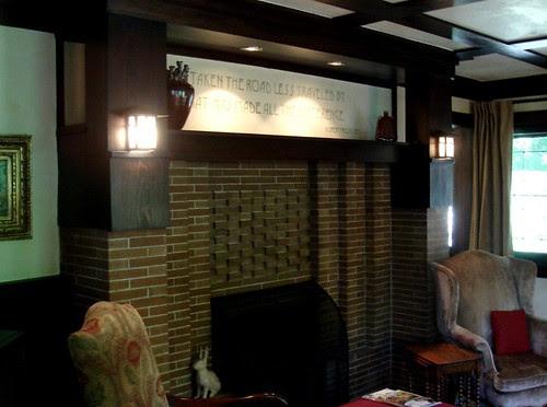 The living room of the Fred B. Jones Gatehouse