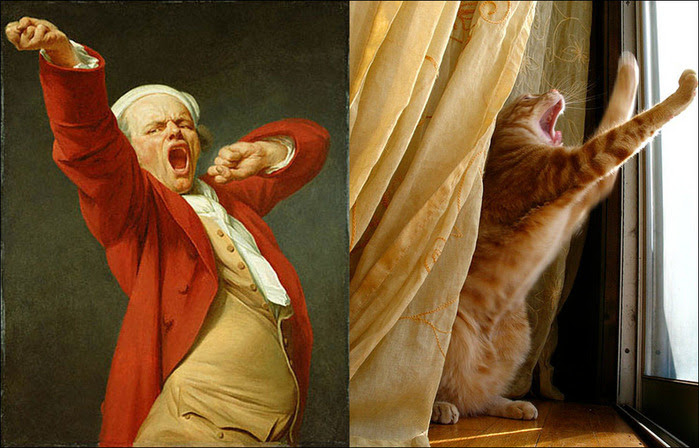 кошки в живописи 8 (700x448, 125Kb)