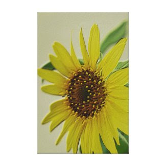 Embossed Sunflower Wrapped Canvas Art Canvas Print