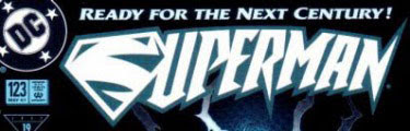 Superman #123 logo