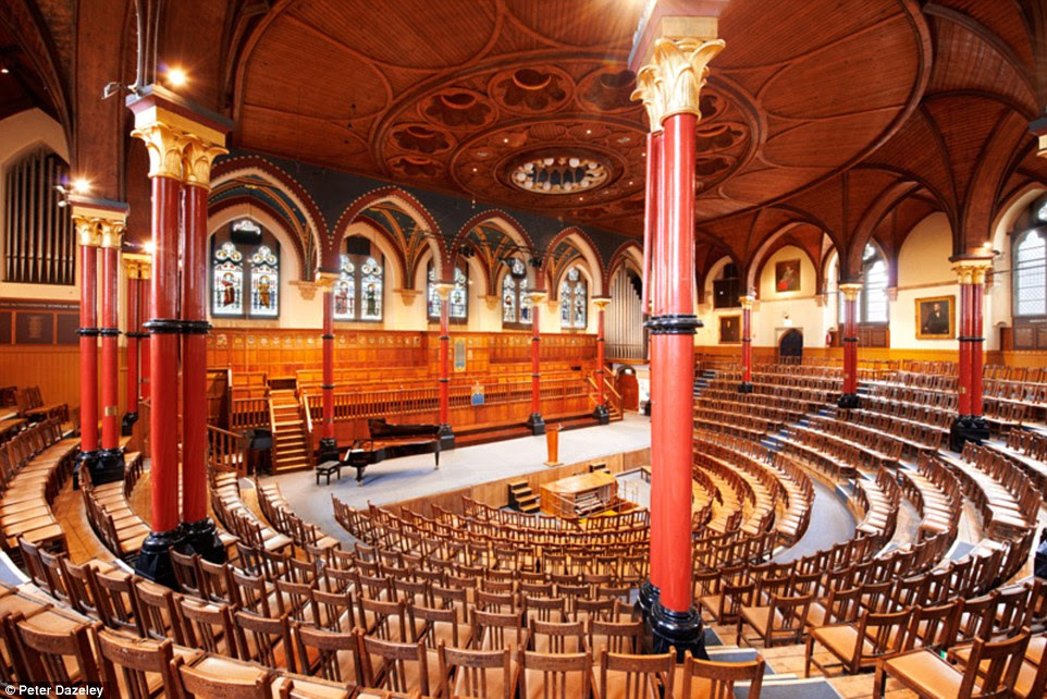 The Speech Room: Harrow School, a boys' independent public school in north-west London, where former students include Benedict Cumberbatch and Winston Churchill