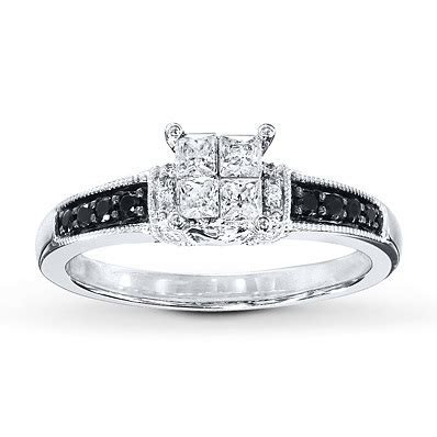 Kay Jewelers Black/White Diamonds 1/2 ct tw Engagement