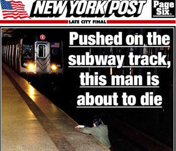 Foto foi publicada na capa do jornal (Reprodução/ The New York Pos)