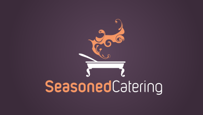 Seasoned Catering : catering business owned by experienced restauranteur logo design