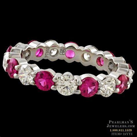 Memoire Pink Sapphire And Diamond Eternity Band