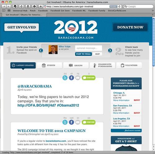 Obama 2012 Get Involved