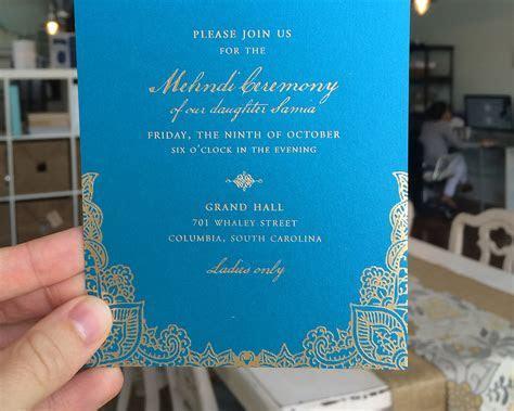 Samia & Affan's Pakistani Wedding & Mehndi Invitation