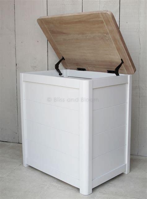 Wooden laundry linen bin Medium   Bliss and Bloom