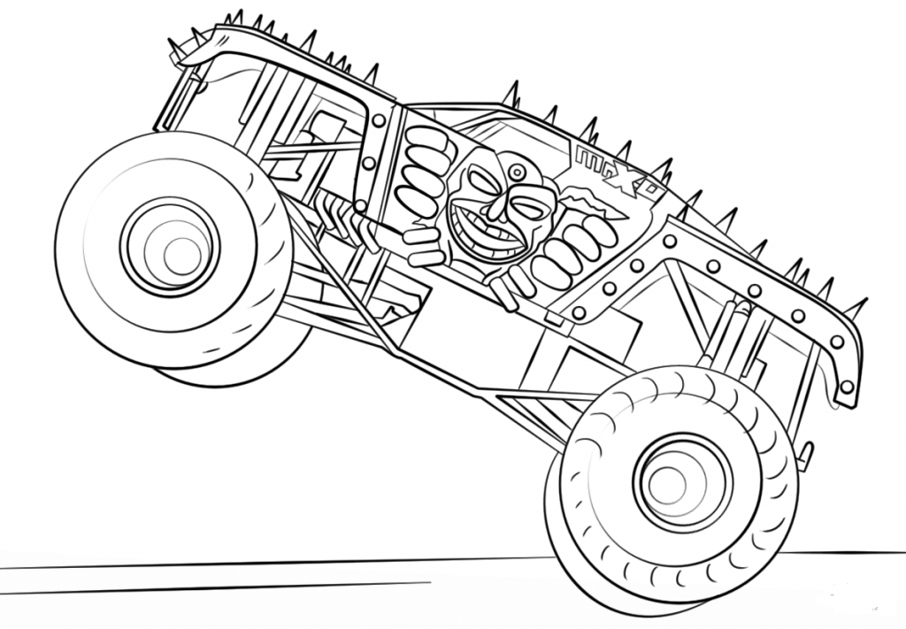 10 Monster Jam Coloring Pages To Print