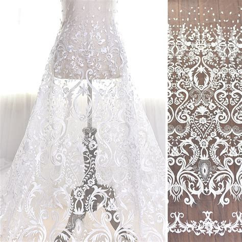 High And Elegant Fine Workmanship Tulle Mesh Embroidered