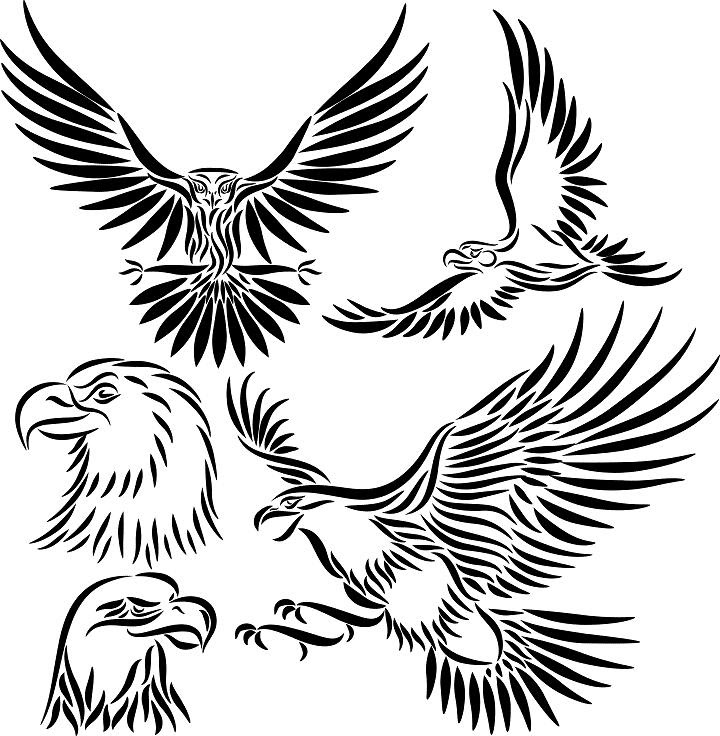 Free Mexican Eagle Tribal Tattoo Download Free Clip Art Free Clip