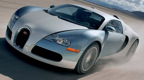 Bugatti Veyron front view driving