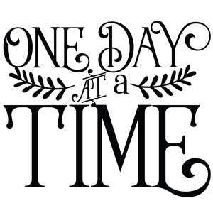 Silhouette Design Store View Design 270403 One Day At A Time Quote