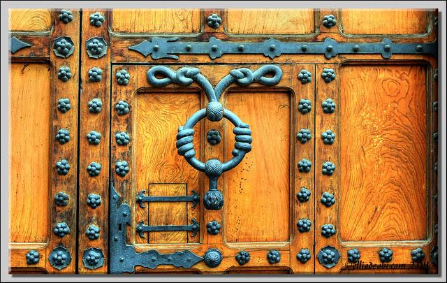 Detalle puerta en la Casa del Cordón