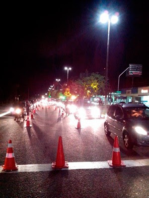 Blitz foi mais uma vez realizada na Avenida Engenheiro Roberto Freire, na Zona Sul da capital (Foto: Divulgação/Polícia Militar do RN)