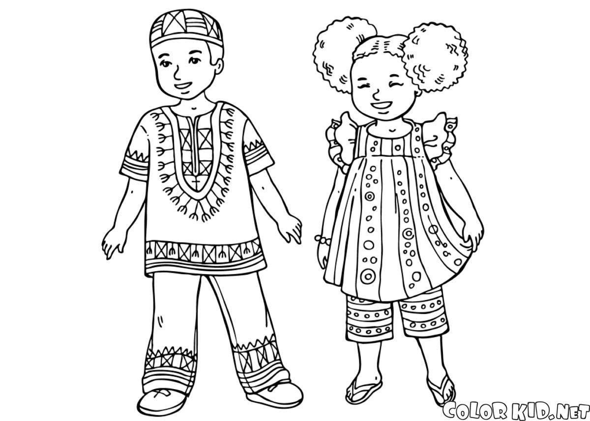 Disegni Da Colorare Bambini Giapponesi