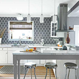 They Mimicked Wallpaper By Stenciling on Designs | Painting ...