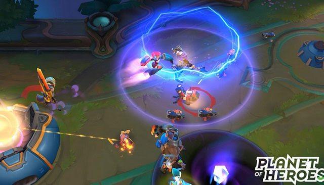 tải trò chơi moba Planet of Heroes