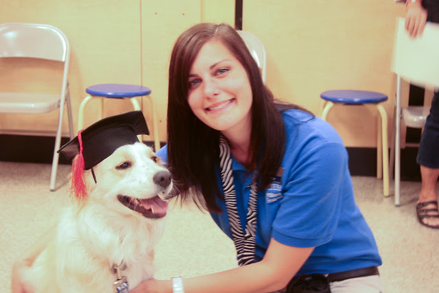 Cidney with Blythe the Trainer - PetSmart Beginner Education Graduation