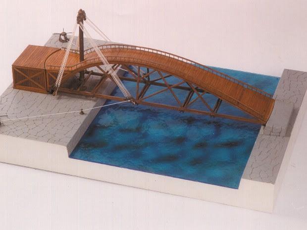 Ponto de Leonardo Da Vinci, projetada para ser girada de volta (Foto: Unifei/Divulgação)