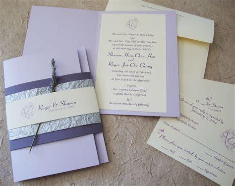 [custom wedding invitation] lavender booklet suite