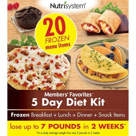nutrisystem members favorites  day diet kit ebay