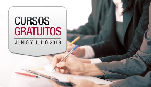 Cursos gratuitos Junio - Julio 2013