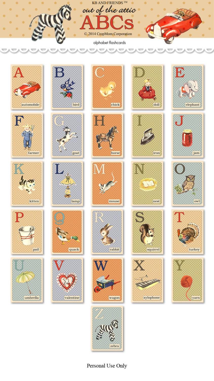 Kathryn Balint: Digital retro-style ABC flashcards / alphabet ...