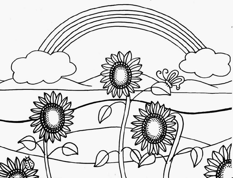 Free Coloring Pages Of Summer Flowers Super Kins Author