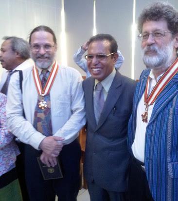 John M. Miller and Charles Scheiner with , President Taur Matan Ruak
