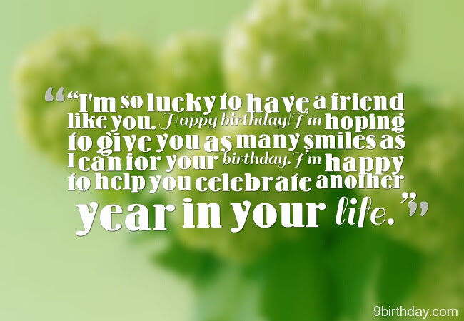 Quotes About Lucky Friend 58 Quotes